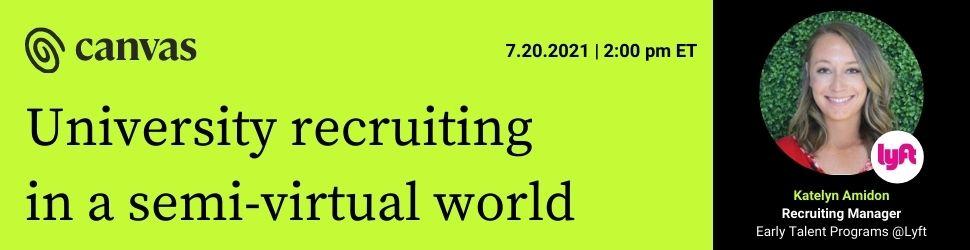 Canvas Hybrid University recruiting webinar