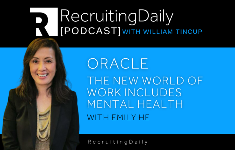 Oracle – The New World of Work Includes Mental Health With Emily He