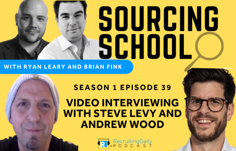 Sourcing School: Video Interviewing with Steve Levy and Andrew Wood