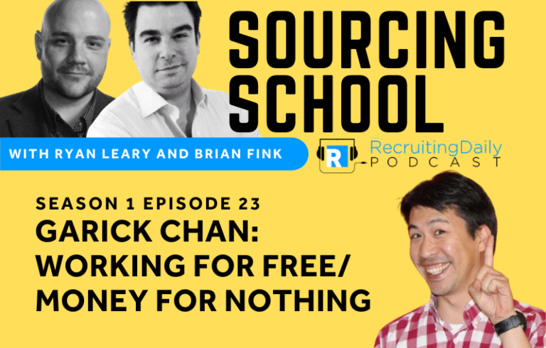 Sourcing School: Garick Chan: Working For Free (Money For Nothing)