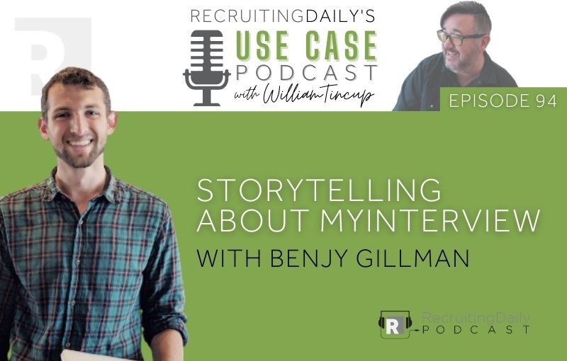Storytelling about myInterview with Benjy Gillman