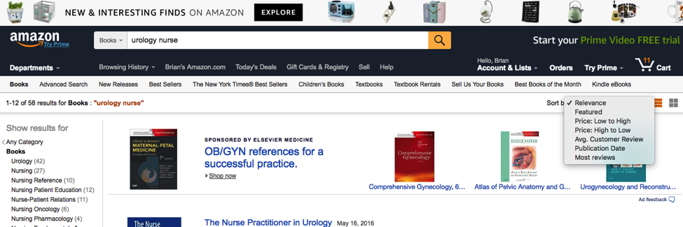 Use Amazon to Find Candidates