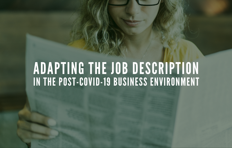 Adapting the Job Description in the Post-COVID-19 Business Environment