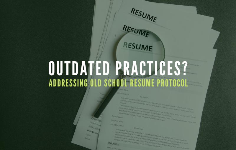Addressing Old School Resume Protocol