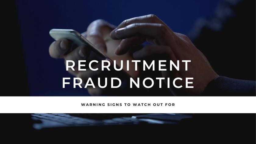 recruitment fraud notice