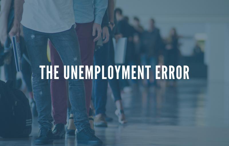 the unemployment error