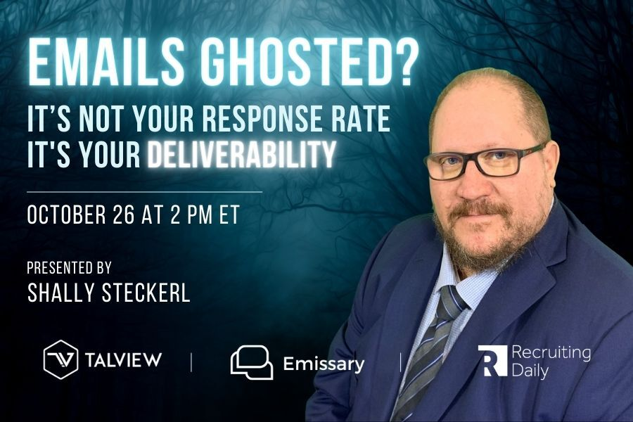 webinar candidate outreach response rate solve deliverability